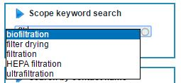 myprotel changes scope keyword search field MyProtel