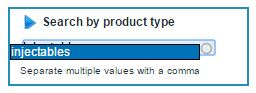myprotel changes search by product type